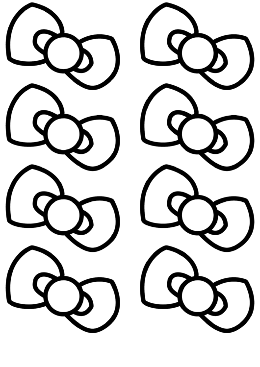 Hello Kitty Bow Template Printable Pdf Download
