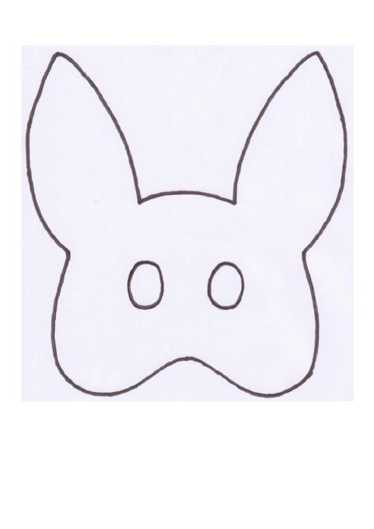 Bunny Mask Template Printable pdf