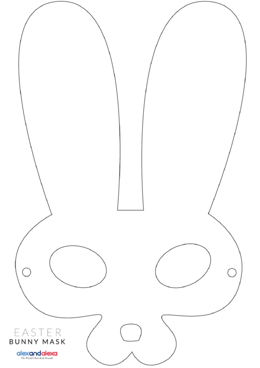 Bunny Mask Template Printable pdf