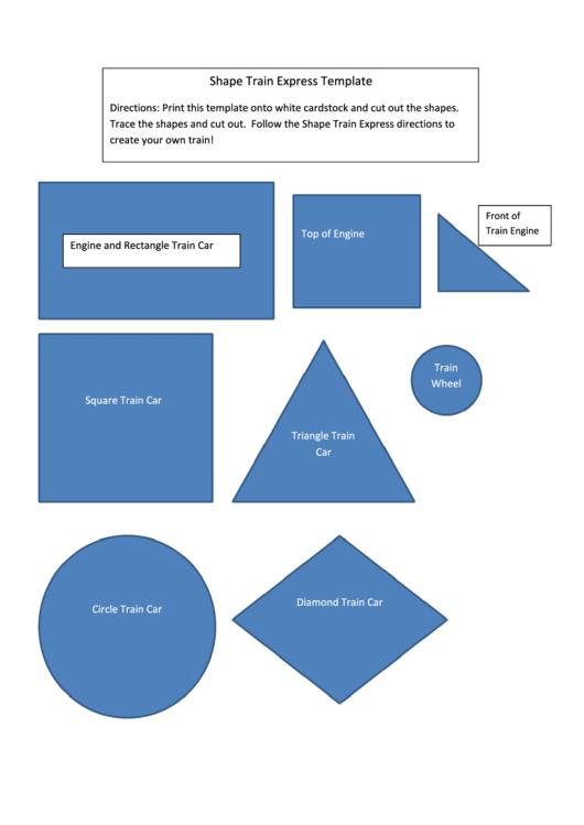 Shape Train Craft Template printable pdf download