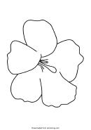 Hawaiian Flower Template
