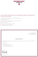 Statement Of Service - Western Sydney University