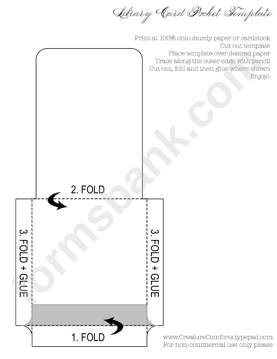 library card pocket template printable pdf download