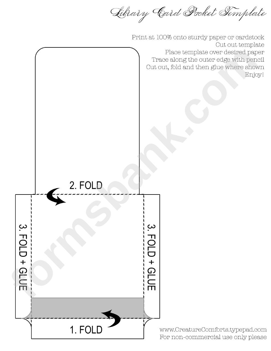 Library card pocket template printable pdf download library card pocket template maxwellsz