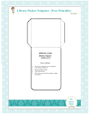 Foldable Library Pocket Template