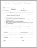 Sample Collection Agency Follow-up Letter