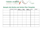 Sample Job Duties And Action Plan Template - Farm To School