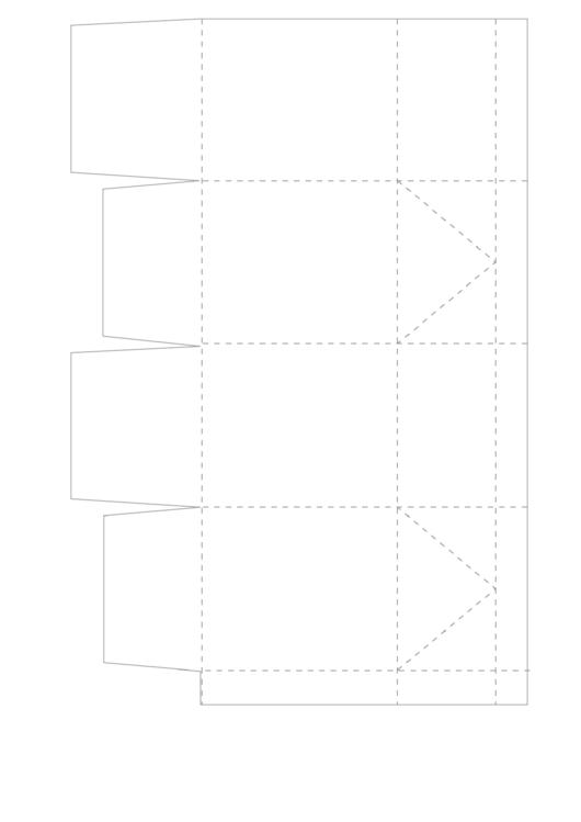 Cupcake Box Folding Template