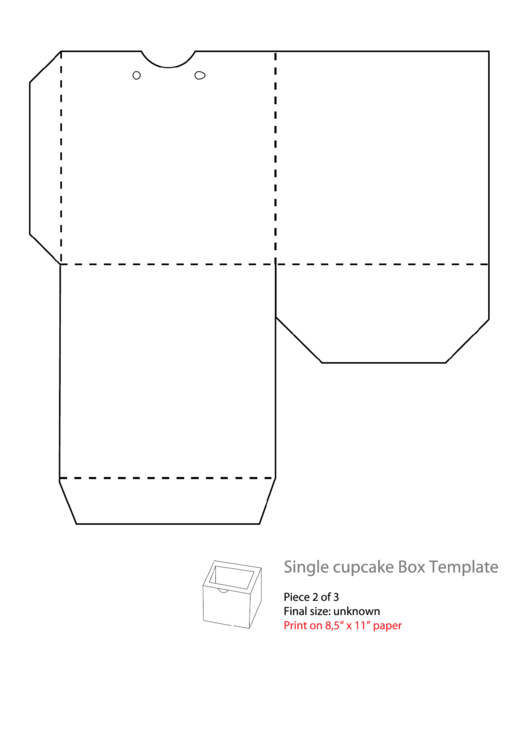 Single Cupcake Box Template