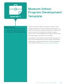 Museum School Program Development Template