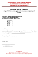Sample Format Letter Of Refund Request