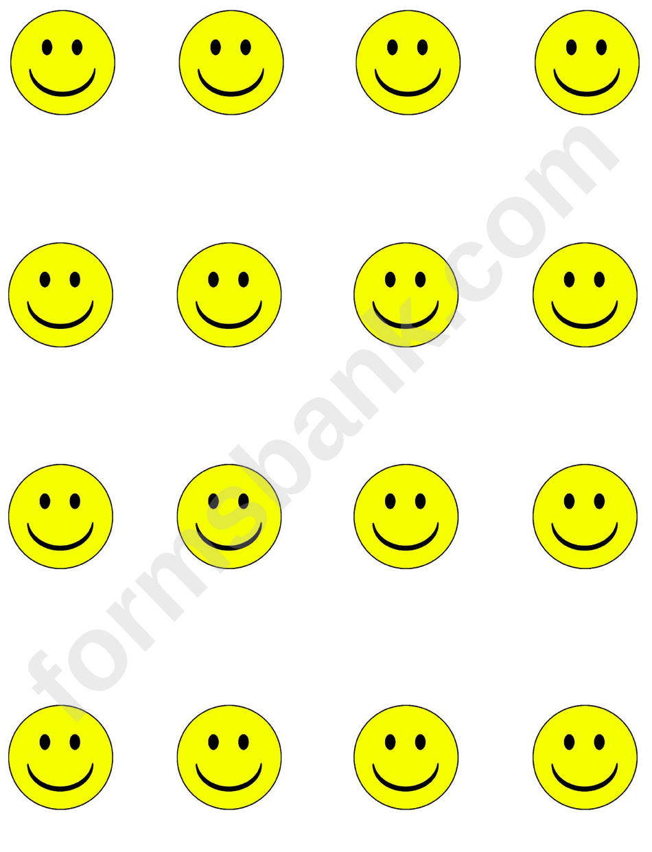 yellow smiley face templates printable pdf download