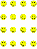 Yellow Smiley Face Templates