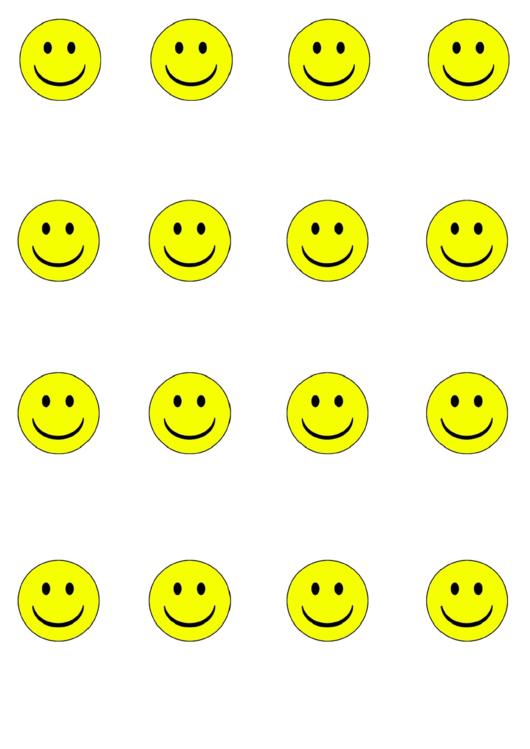 Yellow Smiley Face Templates Printable Pdf Download