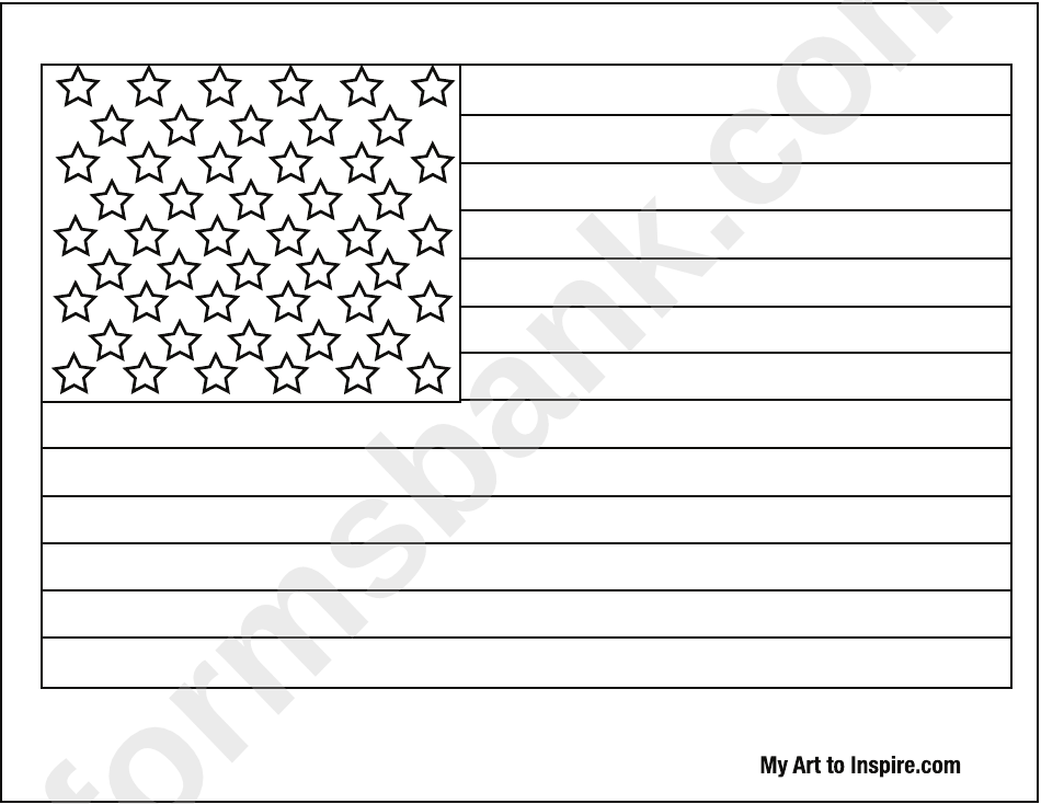 American Flag Coloring Page Printable Pdf Download