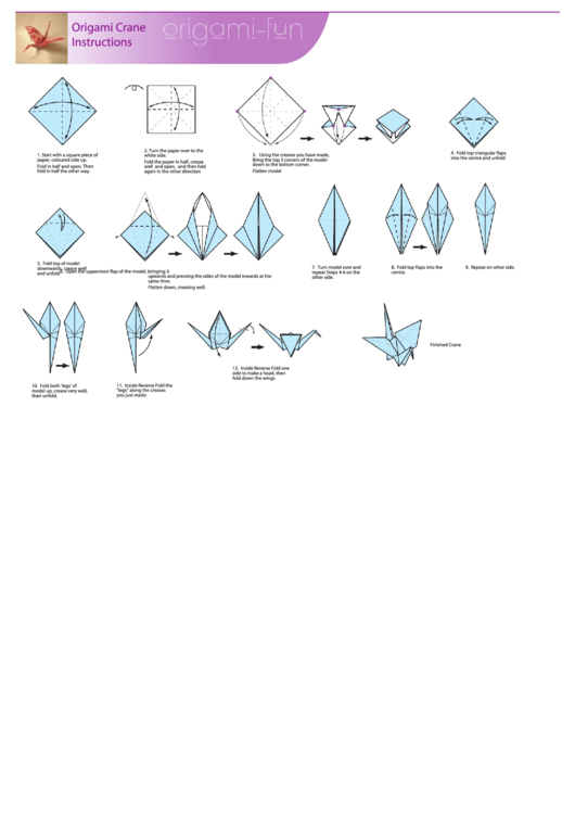 Admirable Origami Crane Instructions Printable Pdf Download Wiring 101 Capemaxxcnl