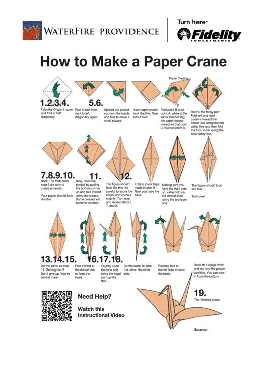 Paper Crane Instructions Printable Pdf Download