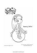 Strawberry Shortcake Coloring Page - Blueberry Muffin