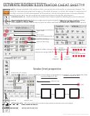 Adobe Illustrator (ai) Tool Bar And Windows Cheat Sheet