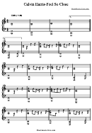 Feel So Close (sheet Music) - Calvin Harris