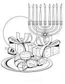 Hanukkah Menorah Coloring Sheet