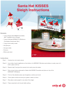 Santa Hat Kisses Place Card Templates And Instructions