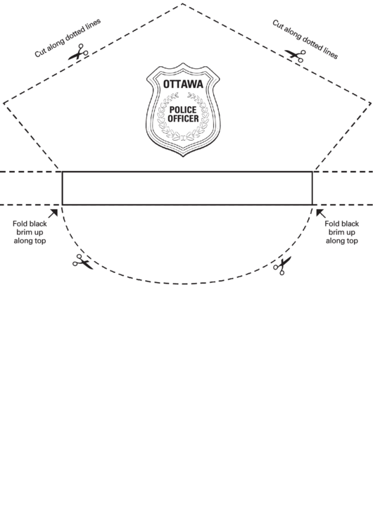 image regarding Printable Police Hat referred to as Ottawa Law enforcement Services Hat Template printable pdf obtain