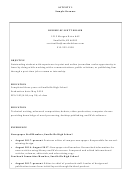 Sample Student Resume Template: Communications, Public Relations, Or Publishing
