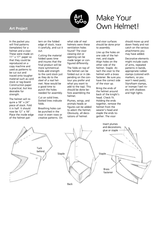 Top Knight Helmet Templates free to download in PDF format