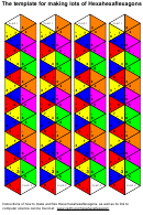 The Template For Making Lots Of Hexahexaflexagons