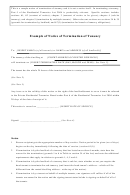 Example Of Notice Of Termination Of Tenancy