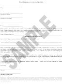 Sample Letter To Landlord