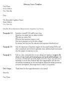Advocacy Letter Template