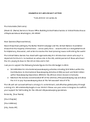 Example Of Advocacy Letter Template