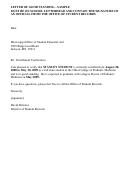 Letter Of Good Standing - Sample