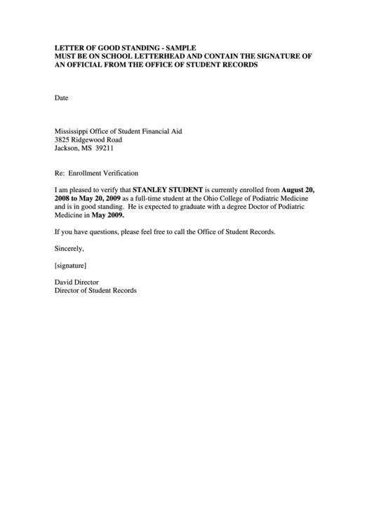 letter example, letter for past employee, on sample enrollment employment verification letter template