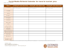 Social Media Editorial Calendar Template For Travel & Tourism Pros