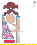 Lavender Doll Template Print