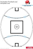 Australian Football Oval Template