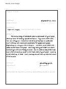 Friendly Letter Sample
