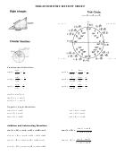 Trigonometry Review Sheet