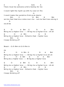 Higher Love Chords And Lyrics By Steve Winwood Printable Pdf Download