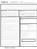 Student Health Form