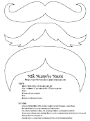 Blank, Brown And Pink Mustache Templates With Instructions