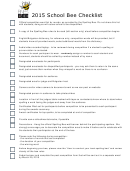 School Bee Checklist
