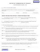Notice Of Termination Of Tenancy Template