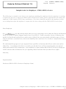 Sample Letter To Employee - Fmla/ofla Leave
