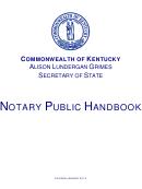Kentucky Notary Public Handbook And Forms