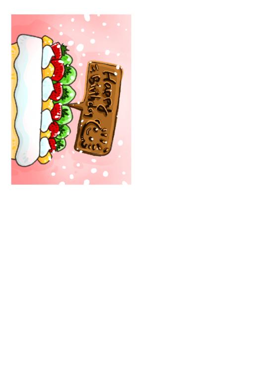 Birthday Card With Dessert