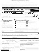 Retirement Plan Election Form For Printed Letters